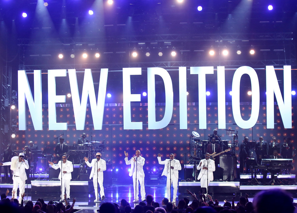 . New Edition performs at the BET Awards at the Microsoft Theater on Sunday, June 25, 2017, in Los Angeles. (Photo by Matt Sayles/Invision/AP)
