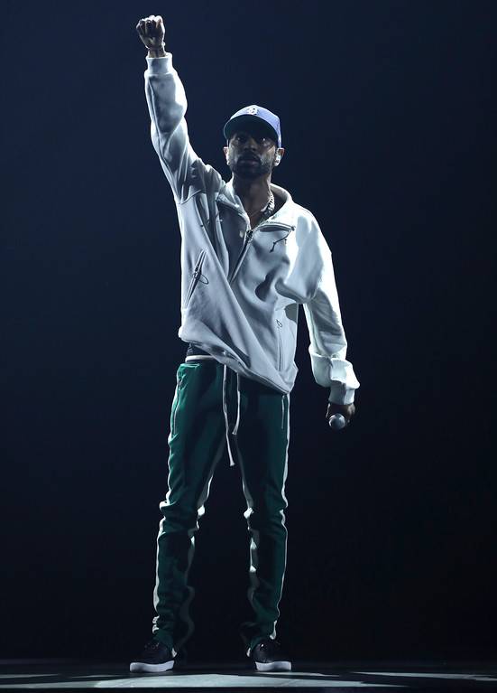 . Big Sean performs at the BET Awards at the Microsoft Theater on Sunday, June 25, 2017, in Los Angeles. (Photo by Matt Sayles/Invision/AP)