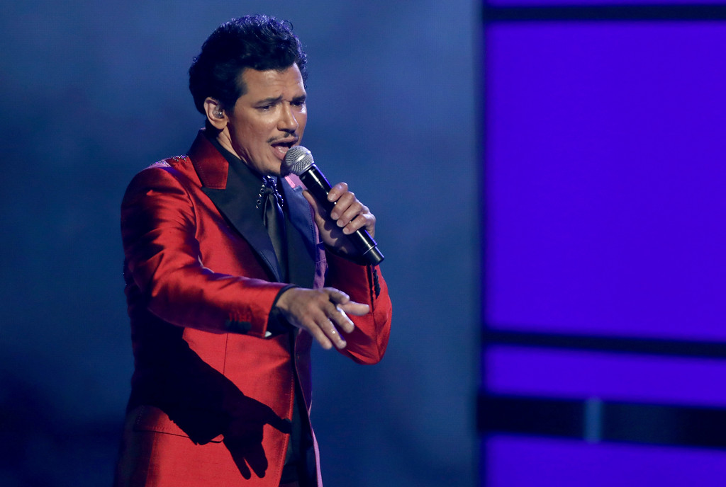 """. El DeBarge performs \""""Careless Whisper\"""" at the BET Awards at the Microsoft Theater on Sunday, June 25, 2017, in Los Angeles. (Photo by Matt Sayles/Invision/AP)"""