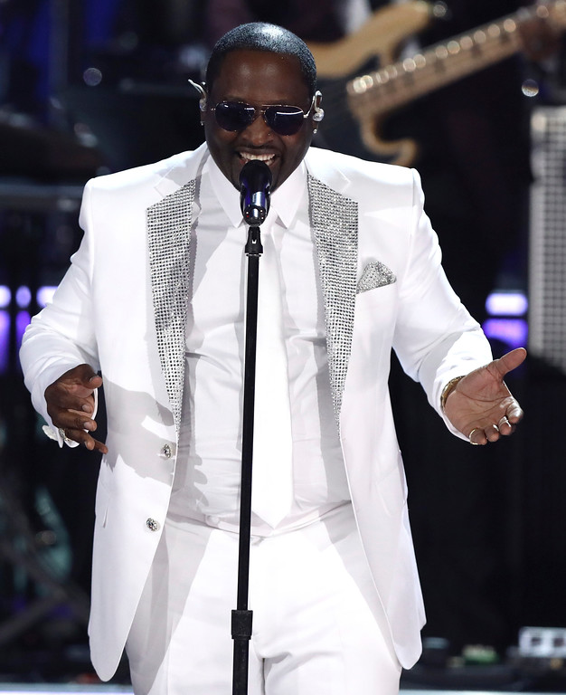 . Johnny Gill, of New Edition, performs at the BET Awards at the Microsoft Theater on Sunday, June 25, 2017, in Los Angeles. (Photo by Matt Sayles/Invision/AP)