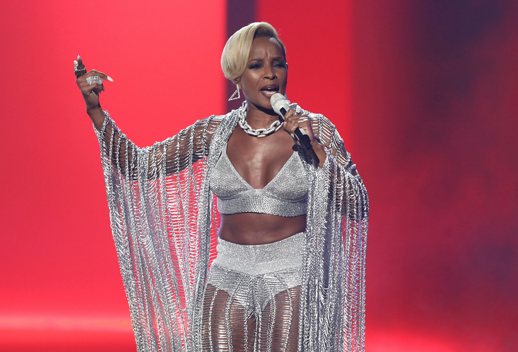 . Mary J. Blige performs at the BET Awards at the Microsoft Theater on Sunday, June 25, 2017, in Los Angeles. (Photo by Matt Sayles/Invision/AP)