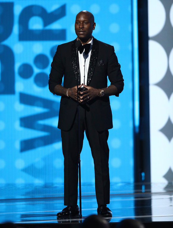. Tyrese Gibson speaks at the BET Awards at the Microsoft Theater on Sunday, June 25, 2017, in Los Angeles. (Photo by Matt Sayles/Invision/AP)