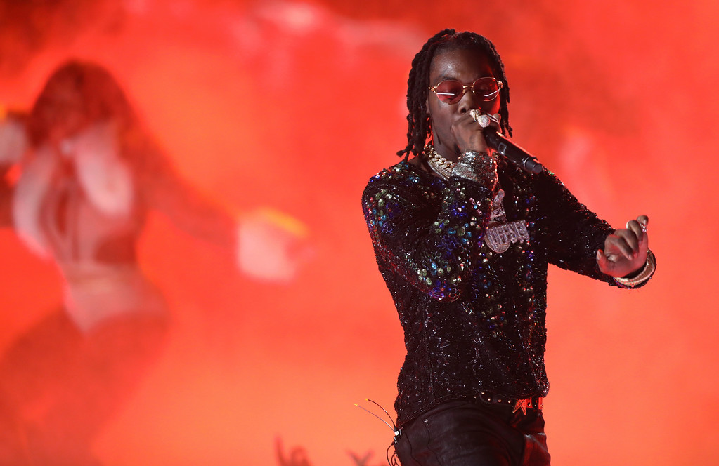 . Offset, of Migos, performs at the BET Awards at the Microsoft Theater on Sunday, June 25, 2017, in Los Angeles. (Photo by Matt Sayles/Invision/AP)