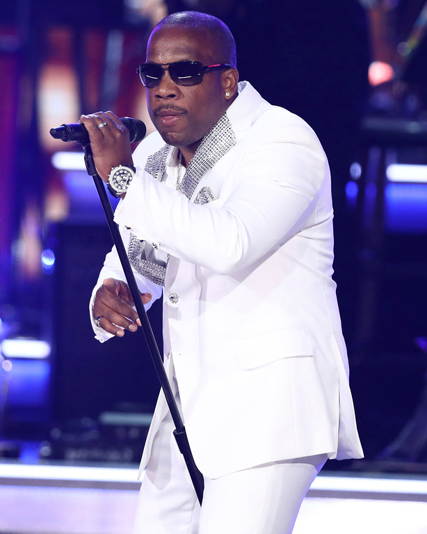 . Michael Bivins, of New Edition, performs at the BET Awards at the Microsoft Theater on Sunday, June 25, 2017, in Los Angeles. (Photo by Matt Sayles/Invision/AP)