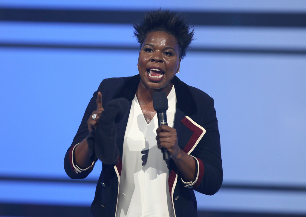 . Host Leslie Jones speaks at the BET Awards at the Microsoft Theater on Sunday, June 25, 2017, in Los Angeles. (Photo by Matt Sayles/Invision/AP)