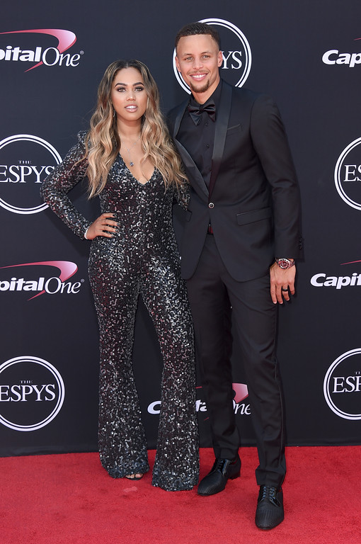 . NBA basketball player Stephen Curry of the Golden State Warriors, right, and Ayesha Curry arrive at the ESPYS at the Microsoft Theater on Wednesday, July 12, 2017, in Los Angeles. (Photo by Jordan Strauss/Invision/AP)