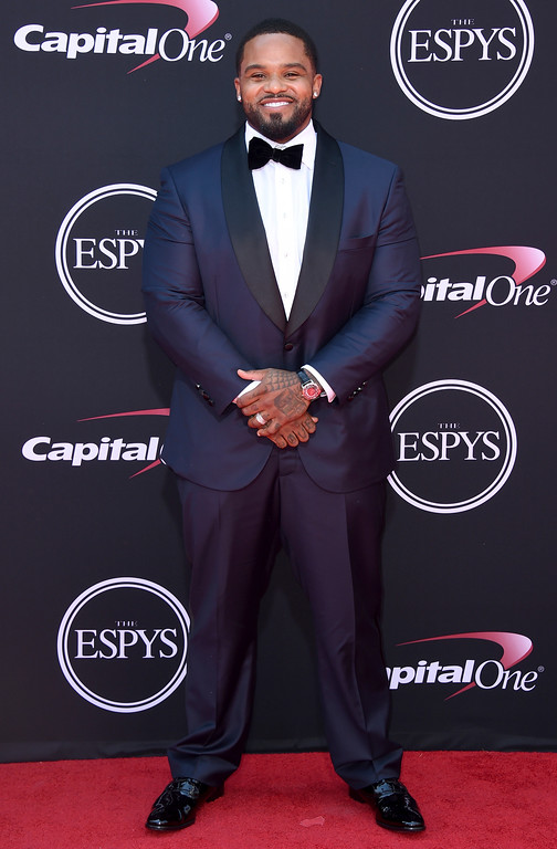 . Retired MLB baseball player Prince Fielder arrives at the ESPYS at the Microsoft Theater on Wednesday, July 12, 2017, in Los Angeles. (Photo by Jordan Strauss/Invision/AP)