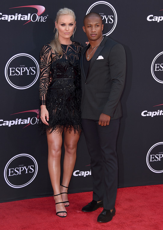 . Lindsey Vonn, left, and Kenan Smith arrive at the ESPYS at the Microsoft Theater on Wednesday, July 12, 2017, in Los Angeles. (Photo by Jordan Strauss/Invision/AP)