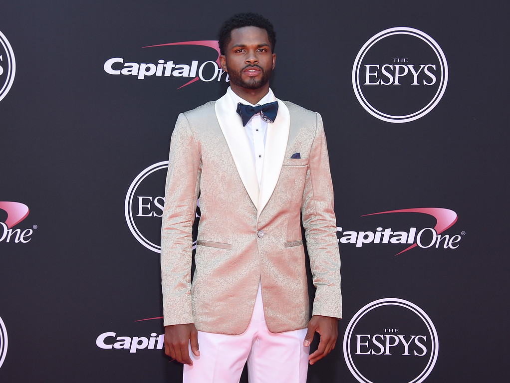 . NBA basketball player Troy Daniels, of the Memphis Grizzlies, arrives at the ESPYS at the Microsoft Theater on Wednesday, July 12, 2017, in Los Angeles. (Photo by Jordan Strauss/Invision/AP)
