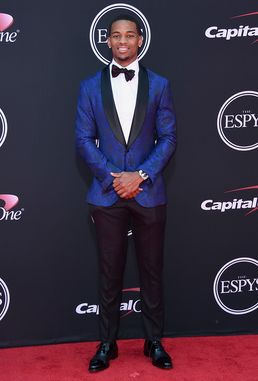 . NFL football player A.J. Bouye, of the Jacksonville Jaguars, arrives at the ESPYS at the Microsoft Theater on Wednesday, July 12, 2017, in Los Angeles. (Photo by Jordan Strauss/Invision/AP)