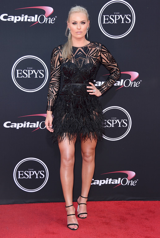 . Lindsey Vonn arrives at the ESPYS at the Microsoft Theater on Wednesday, July 12, 2017, in Los Angeles. (Photo by Jordan Strauss/Invision/AP)