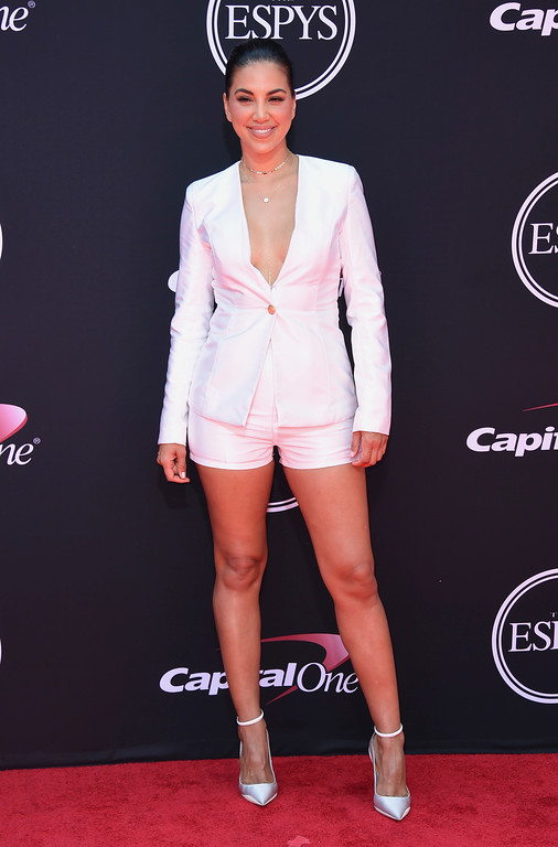 . Liz Hernandez arrives at the ESPYS at the Microsoft Theater on Wednesday, July 12, 2017, in Los Angeles. (Photo by Jordan Strauss/Invision/AP)