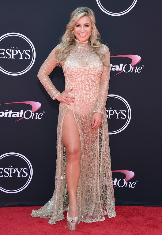 . Golfer Chelsea Pezzola arrives at the ESPYS at the Microsoft Theater on Wednesday, July 12, 2017, in Los Angeles. (Photo by Jordan Strauss/Invision/AP)