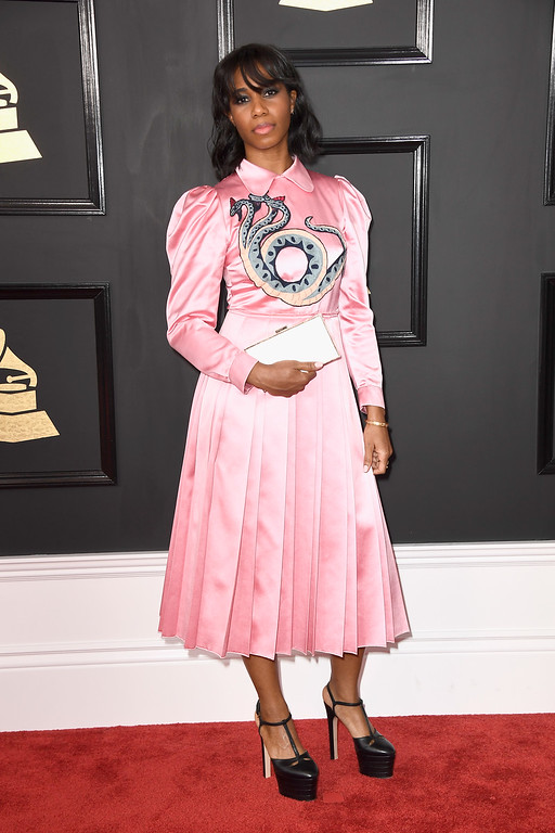 . LOS ANGELES, CA - FEBRUARY 12:  Singer Santigold attends The 59th GRAMMY Awards at STAPLES Center on February 12, 2017 in Los Angeles, California.  (Photo by Frazer Harrison/Getty Images)