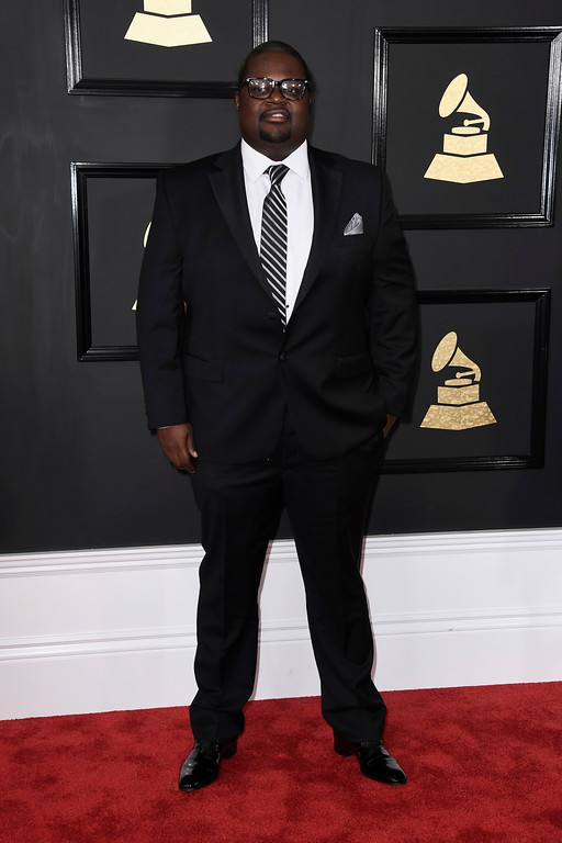 ". LOS ANGELES, CA - FEBRUARY 12:  Songwriter Jason ""Poo Bear\"" Boyd attends The 59th GRAMMY Awards at STAPLES Center on February 12, 2017 in Los Angeles, California.  (Photo by Frazer Harrison/Getty Images)"