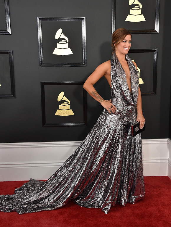 . Cassadee Pope arrives at the 59th annual Grammy Awards at the Staples Center on Sunday, Feb. 12, 2017, in Los Angeles. (Photo by Jordan Strauss/Invision/AP)