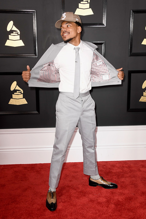 . LOS ANGELES, CA - FEBRUARY 12:  Chance the Rapper attends The 59th GRAMMY Awards at STAPLES Center on February 12, 2017 in Los Angeles, California.  (Photo by Frazer Harrison/Getty Images)