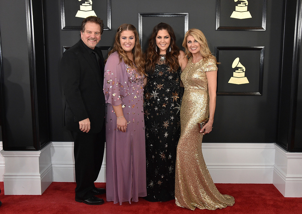 . Lang Scott, from left, Rylee Scott, Hillary Scott, and Linda Davis arrive at the 59th annual Grammy Awards at the Staples Center on Sunday, Feb. 12, 2017, in Los Angeles. (Photo by Jordan Strauss/Invision/AP)