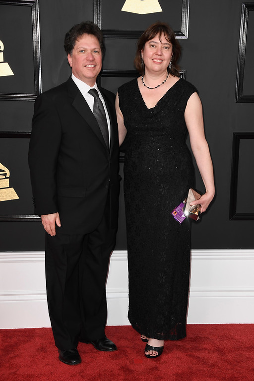 . LOS ANGELES, CA - FEBRUARY 12:  Music executives Richard Martin and Meagan Hennessey attend The 59th GRAMMY Awards at STAPLES Center on February 12, 2017 in Los Angeles, California.  (Photo by Frazer Harrison/Getty Images)