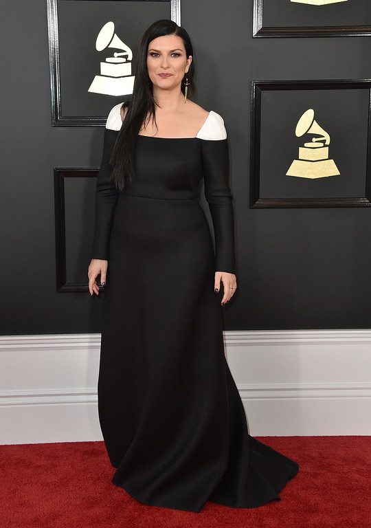 . Laura Pausini arrives at the 59th annual Grammy Awards at the Staples Center on Sunday, Feb. 12, 2017, in Los Angeles. (Photo by Jordan Strauss/Invision/AP)