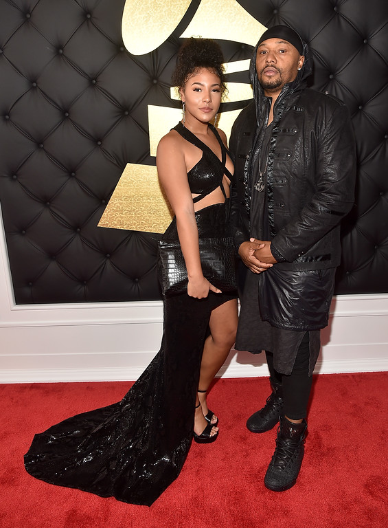 . LOS ANGELES, CA - FEBRUARY 12:  Malik Yusef (R) and Mekkel Carter attend The 59th GRAMMY Awards at STAPLES Center on February 12, 2017 in Los Angeles, California.  (Photo by Alberto E. Rodriguez/Getty Images for NARAS)