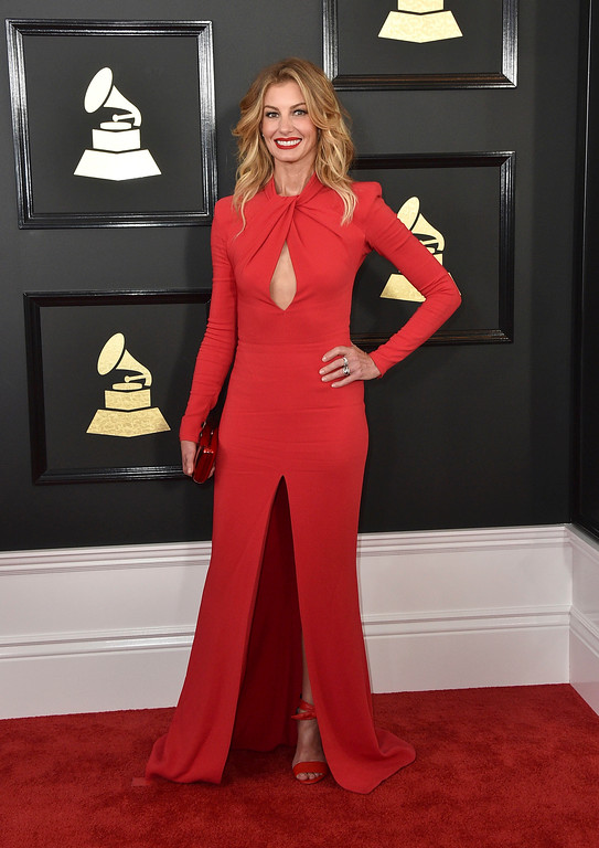 . Faith Hill arrives at the 59th annual Grammy Awards at the Staples Center on Sunday, Feb. 12, 2017, in Los Angeles. (Photo by Jordan Strauss/Invision/AP)