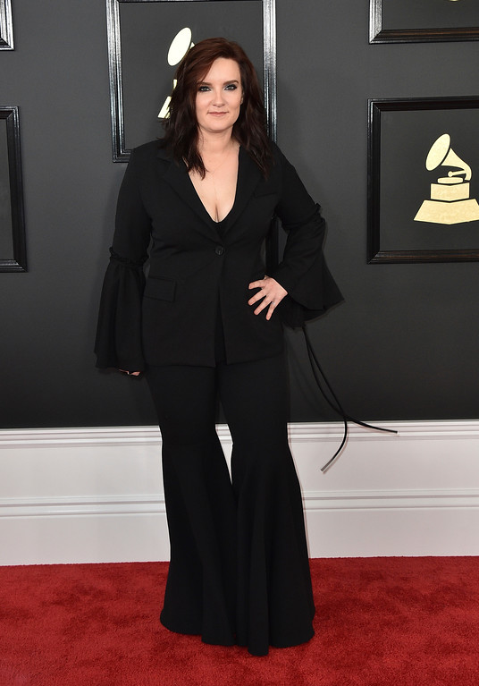 . Brandy Clark arrives at the 59th annual Grammy Awards at the Staples Center on Sunday, Feb. 12, 2017, in Los Angeles. (Photo by Jordan Strauss/Invision/AP)