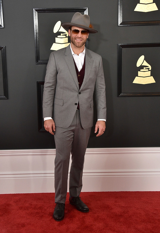 . Drake White arrives at the 59th annual Grammy Awards at the Staples Center on Sunday, Feb. 12, 2017, in Los Angeles. (Photo by Jordan Strauss/Invision/AP)