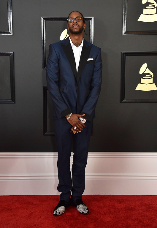 . 2 Chainz arrives at the 59th annual Grammy Awards at the Staples Center on Sunday, Feb. 12, 2017, in Los Angeles. (Photo by Jordan Strauss/Invision/AP)