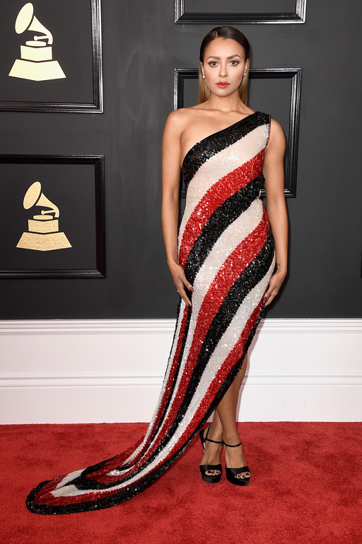 . LOS ANGELES, CA - FEBRUARY 12:  Actor/singer Kat Graham attends The 59th GRAMMY Awards at STAPLES Center on February 12, 2017 in Los Angeles, California.  (Photo by Frazer Harrison/Getty Images)