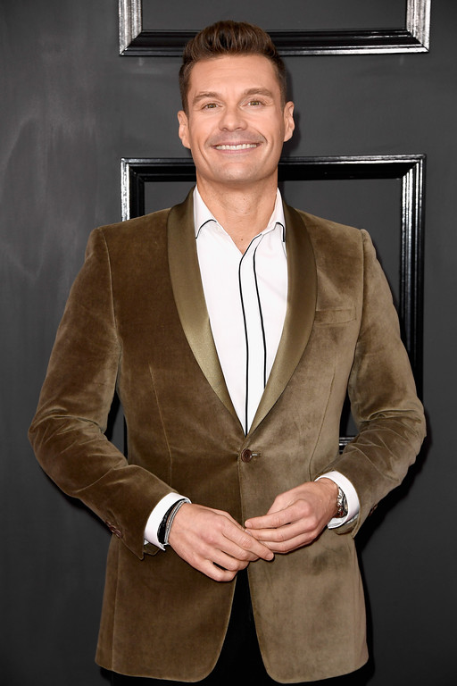 . LOS ANGELES, CA - FEBRUARY 12:  Tv/Radio personality Ryan Seacrest attends The 59th GRAMMY Awards at STAPLES Center on February 12, 2017 in Los Angeles, California.  (Photo by Frazer Harrison/Getty Images)