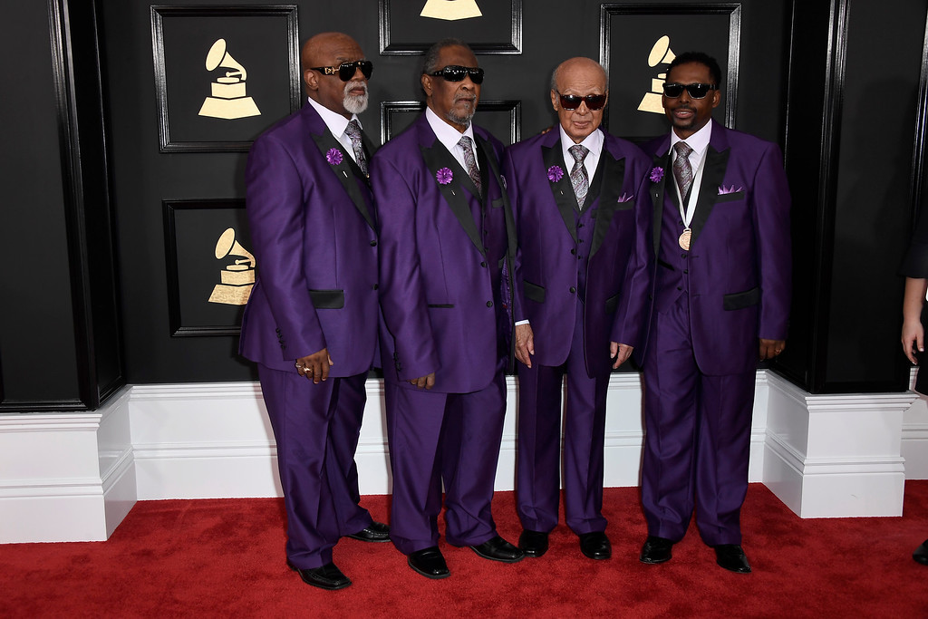 . LOS ANGELES, CA - FEBRUARY 12:  Singing group the Blind Boys of Alabama attends The 59th GRAMMY Awards at STAPLES Center on February 12, 2017 in Los Angeles, California.  (Photo by Frazer Harrison/Getty Images)