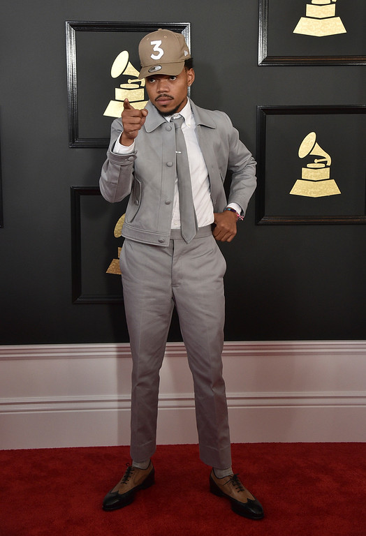 . Chance The Rapper arrives at the 59th annual Grammy Awards at the Staples Center on Sunday, Feb. 12, 2017, in Los Angeles. (Photo by Jordan Strauss/Invision/AP)