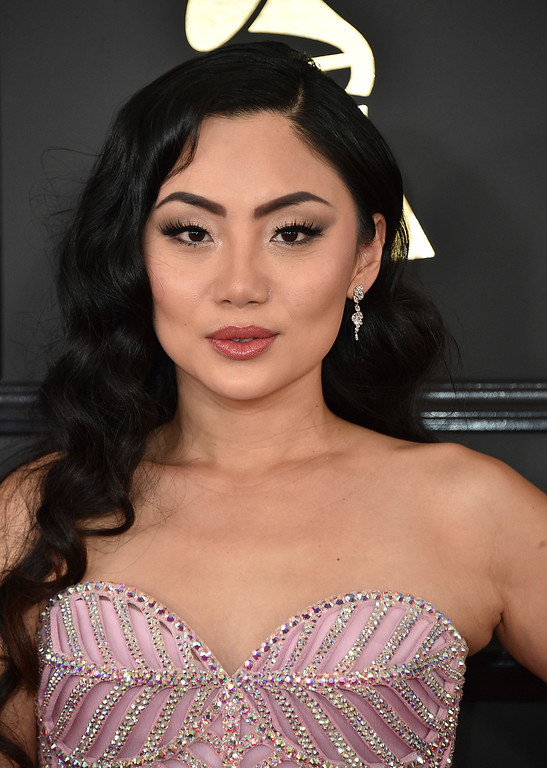 . Tina Guo arrives at the 59th annual Grammy Awards at the Staples Center on Sunday, Feb. 12, 2017, in Los Angeles. (Photo by Jordan Strauss/Invision/AP)