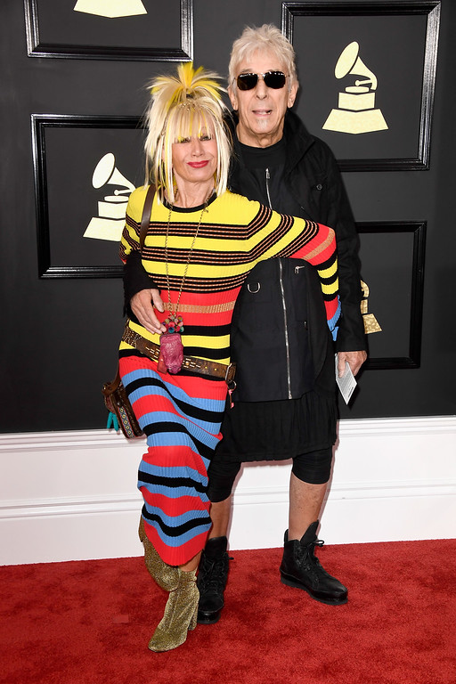 . LOS ANGELES, CA - FEBRUARY 12:  Designer Betsey Johnson and musician John Cale attend The 59th GRAMMY Awards at STAPLES Center on February 12, 2017 in Los Angeles, California.  (Photo by Frazer Harrison/Getty Images)
