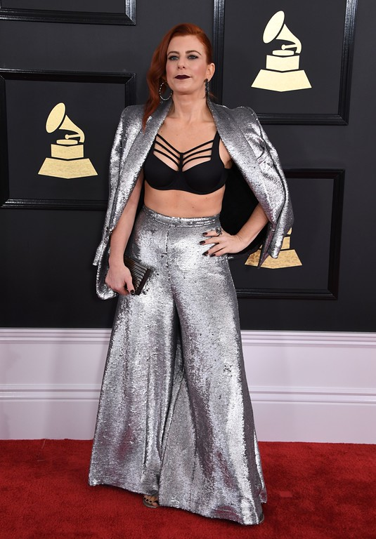 . DJ Michelle Pesce arrives for the 59th Grammy Awards pre-telecast on February 12, 2017, in Los Angeles, California.  (MARK RALSTON/AFP/Getty Images)