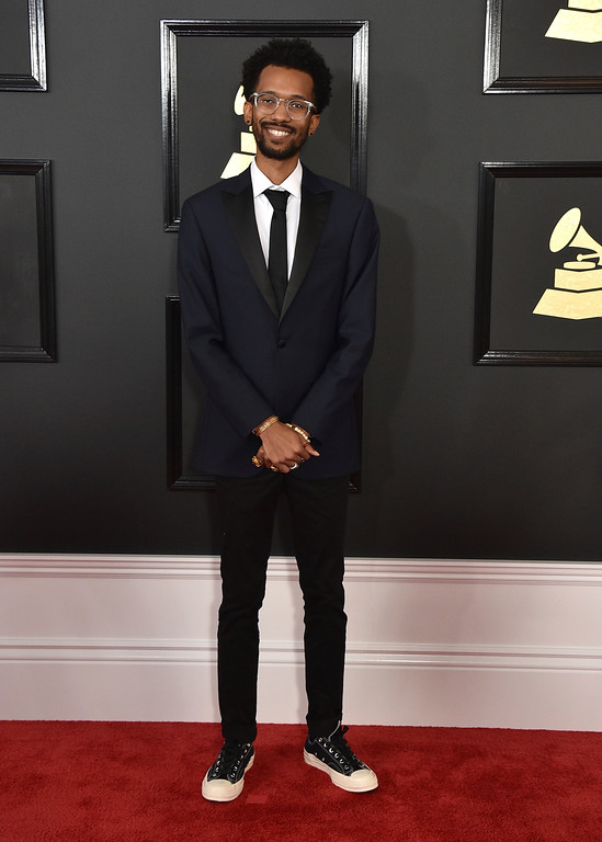 . Cam O\'bi arrives at the 59th annual Grammy Awards at the Staples Center on Sunday, Feb. 12, 2017, in Los Angeles. (Photo by Jordan Strauss/Invision/AP)
