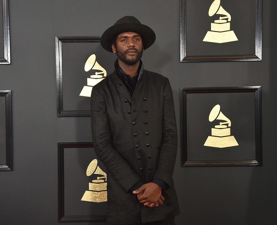 . Gary Clark Jr. arrives at the 59th annual Grammy Awards at the Staples Center on Sunday, Feb. 12, 2017, in Los Angeles. (Photo by Jordan Strauss/Invision/AP)