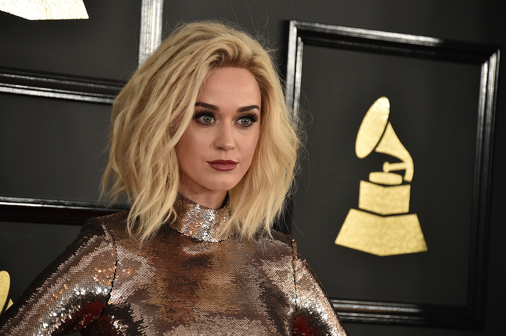. Katy Perry arrives at the 59th annual Grammy Awards at the Staples Center on Sunday, Feb. 12, 2017, in Los Angeles. (Photo by Jordan Strauss/Invision/AP)