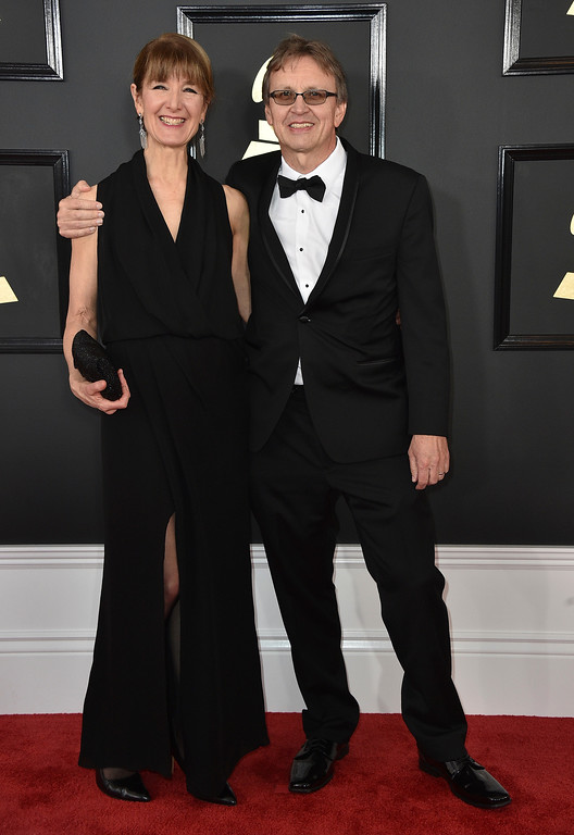 . Judith Farmer, left, and Gernot Wolfgang arrive at the 59th annual Grammy Awards at the Staples Center on Sunday, Feb. 12, 2017, in Los Angeles. (Photo by Jordan Strauss/Invision/AP)