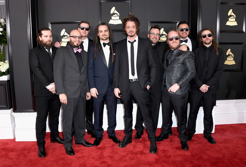 . LOS ANGELES, CA - FEBRUARY 12:  Music group SOJA attends The 59th GRAMMY Awards at STAPLES Center on February 12, 2017 in Los Angeles, California.  (Photo by Frazer Harrison/Getty Images)