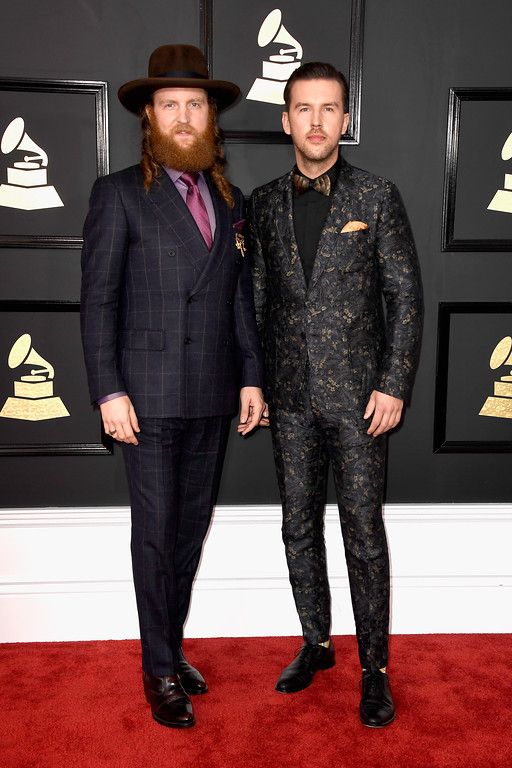 . LOS ANGELES, CA - FEBRUARY 12:  John Osborne (L) and T.J. Osborne of music group Brothers Osborne attend The 59th GRAMMY Awards at STAPLES Center on February 12, 2017 in Los Angeles, California.  (Photo by Frazer Harrison/Getty Images)