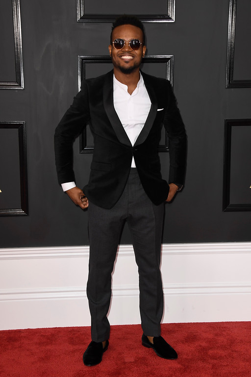 . LOS ANGELES, CA - FEBRUARY 12:  Musician Travis Greene attends The 59th GRAMMY Awards at STAPLES Center on February 12, 2017 in Los Angeles, California.  (Photo by Frazer Harrison/Getty Images)
