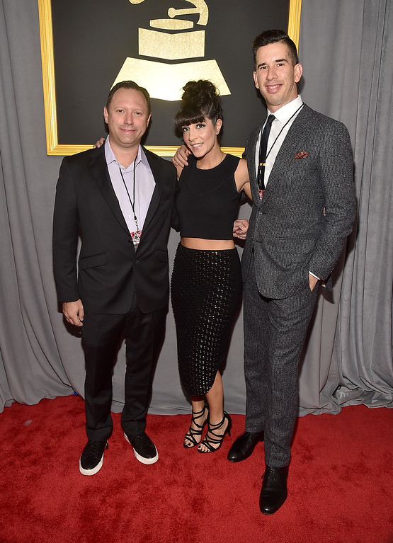 . LOS ANGELES, CA - FEBRUARY 12: (L-R) Ken Fermaglich, Lisa Stein and Jbeau Lewis attend The 59th GRAMMY Awards at STAPLES Center on February 12, 2017 in Los Angeles, California.  (Photo by Alberto E. Rodriguez/Getty Images for NARAS)
