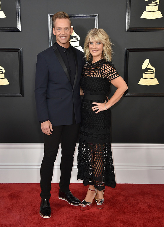 . Bernie Herms, left and Natalie Grant arrive at the 59th annual Grammy Awards at the Staples Center on Sunday, Feb. 12, 2017, in Los Angeles. (Photo by Jordan Strauss/Invision/AP)
