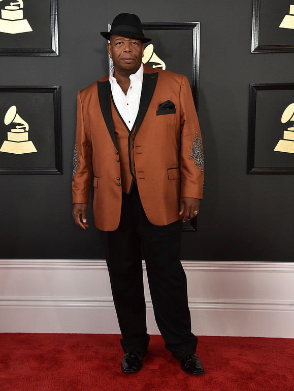 . Big Llou arrives at the 59th annual Grammy Awards at the Staples Center on Sunday, Feb. 12, 2017, in Los Angeles. (Photo by Jordan Strauss/Invision/AP)