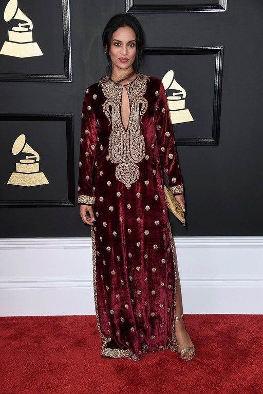 . LOS ANGELES, CA - FEBRUARY 12:  Musician Anoushka Shankar attends The 59th GRAMMY Awards at STAPLES Center on February 12, 2017 in Los Angeles, California.  (Photo by Frazer Harrison/Getty Images)