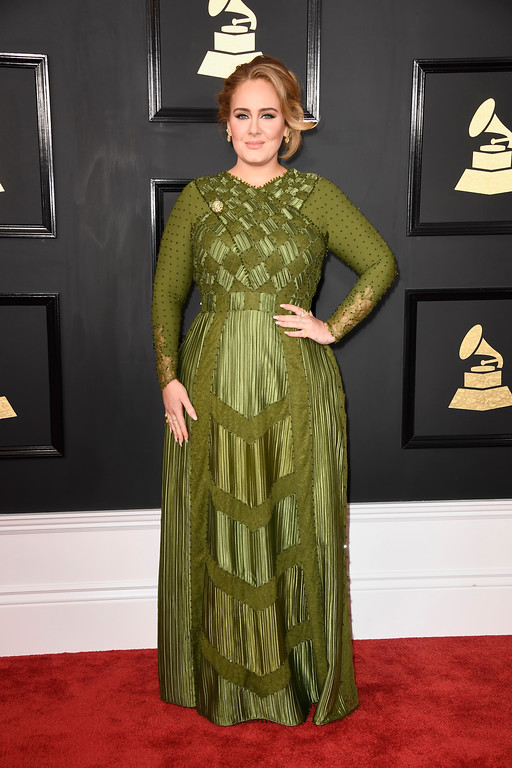 . LOS ANGELES, CA - FEBRUARY 12:  Singer-songwriter Adele attends The 59th GRAMMY Awards at STAPLES Center on February 12, 2017 in Los Angeles, California.  (Photo by Frazer Harrison/Getty Images)