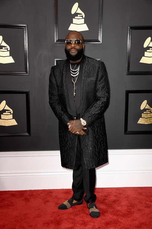 . LOS ANGELES, CA - FEBRUARY 12:  Rapper Rick Ross attends The 59th GRAMMY Awards at STAPLES Center on February 12, 2017 in Los Angeles, California.  (Photo by Frazer Harrison/Getty Images)