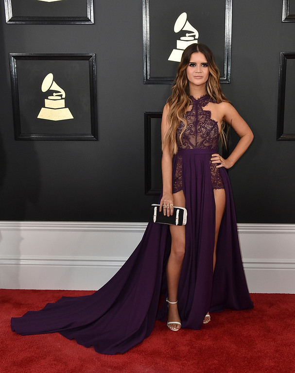 . Maren Morris arrives at the 59th annual Grammy Awards at the Staples Center on Sunday, Feb. 12, 2017, in Los Angeles. (Photo by Jordan Strauss/Invision/AP)